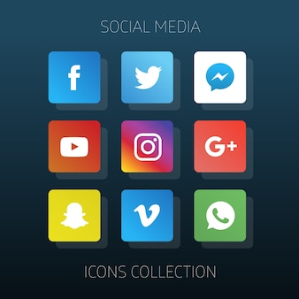 Social collectie media pictogrammen