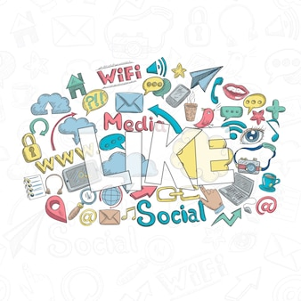 Social doodle like