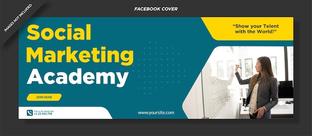 Social marketing academy banner ontwerpsjabloon