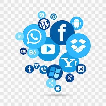 Social media achtergrond