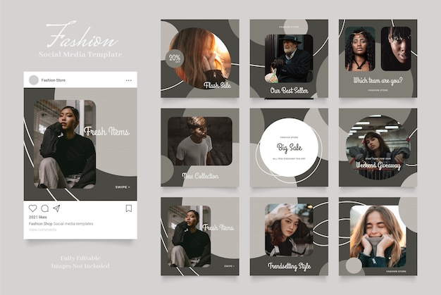 Social media-advertentiesjabloon voor instagram-verhalen en post