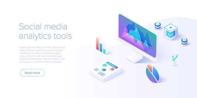 Social media analyse concept