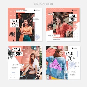 Social media banner fashion zomer sale