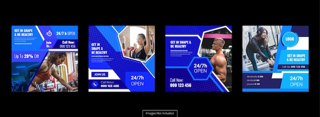 Social media banner set, marketing advertenties en promotie