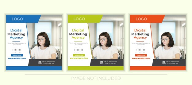 Social media-banners voor digitale marketing