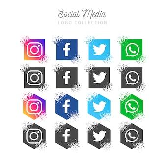 Social media-bannerverzameling