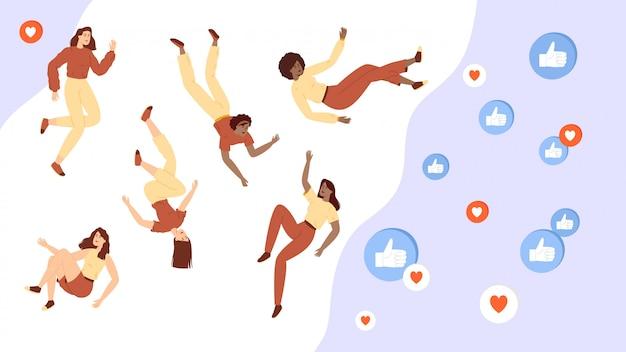 Social media beïnvloeder concept.