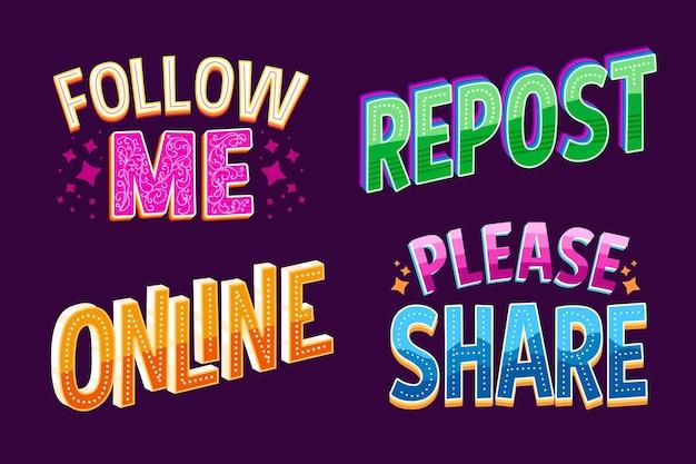 Social media belettering