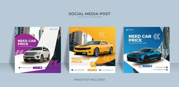 Social media-bericht over autoverhuur nodig