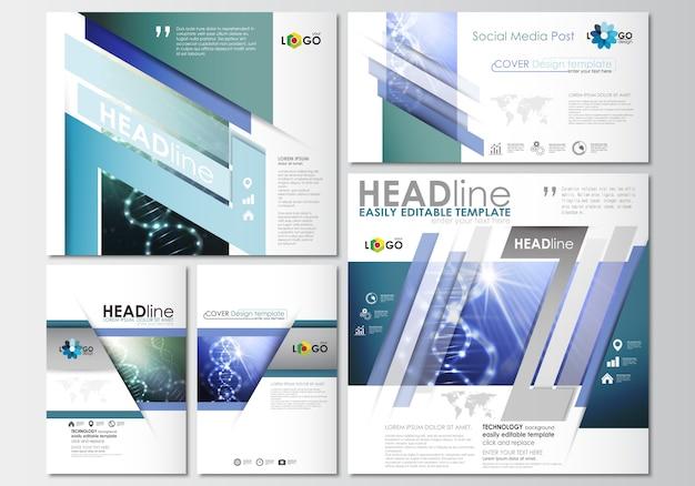 Social media-berichten ingesteld. zakelijke sjablonen. cover ontwerp templat