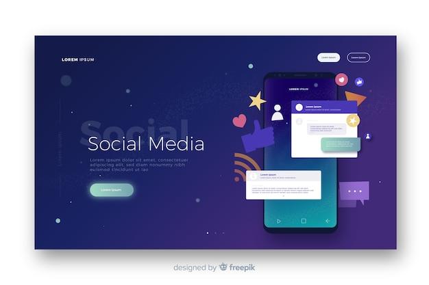 Social media-bestemmingspagina