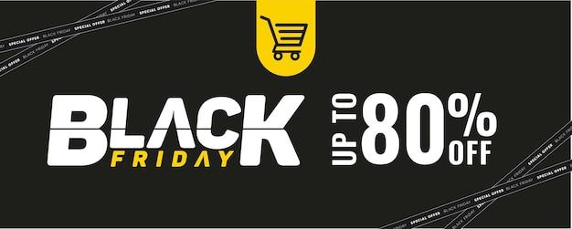 Social media black friday-sjabloon met tot 50 korting voor verkoop