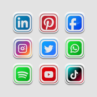 Social media collectie knoppen