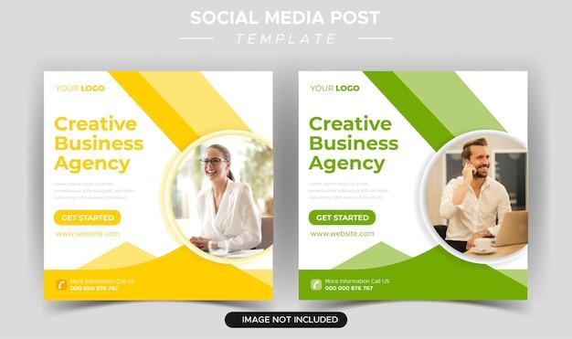 Social media creatief digitaal zakelijk marketingbureau instagram postsjabloon