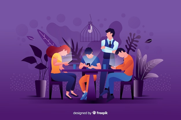 Social media doden geïllustreerd vriendschapsconcept