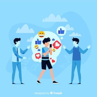 Social media doden het concept van vriendschap