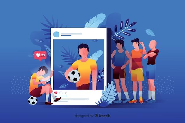 Social media doden vriendschapsconcept