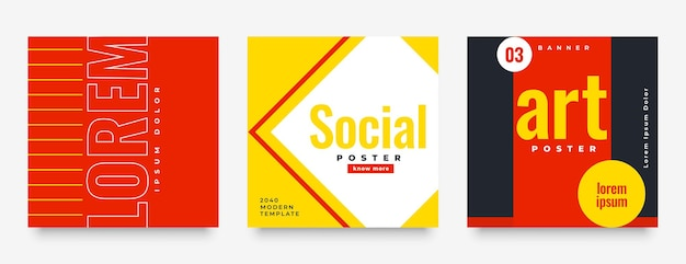 Social media feedpostbanner in warme kleuren