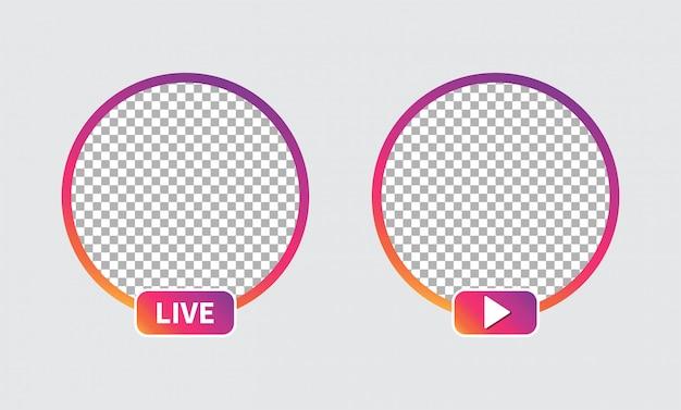 Social media icon avatar set