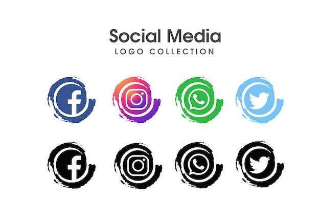 Social media icon set