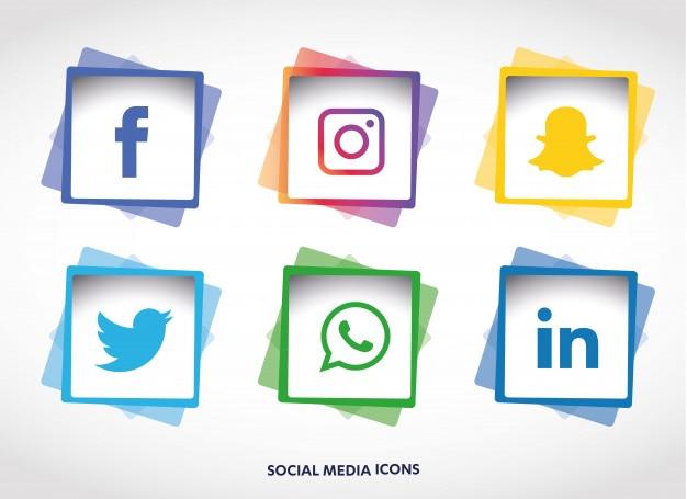 Social media iconen instellen