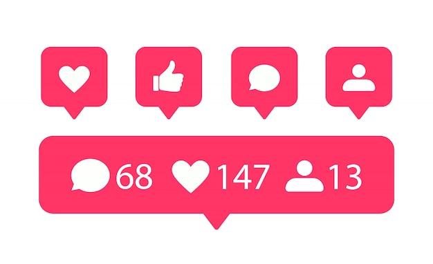 Social media iconen set