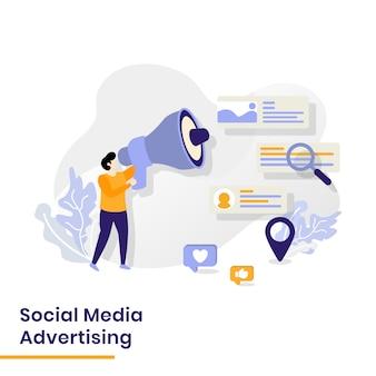 Social media illustratie