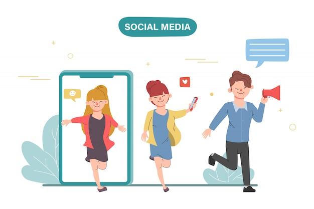 Social media infographic plat ontwerp. mensen virale marketing delen.