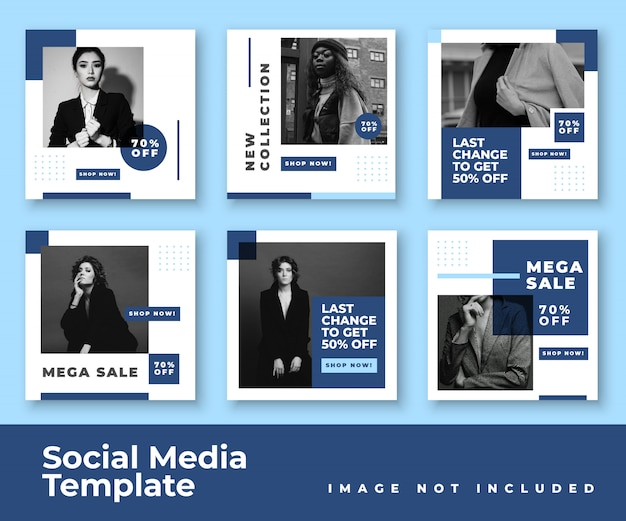 Social media instagram feed post banner bundel