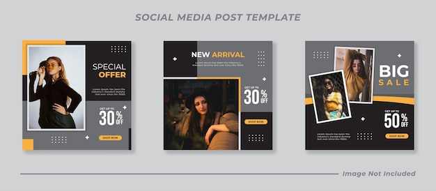 Social media instagram postsjablonen instellen