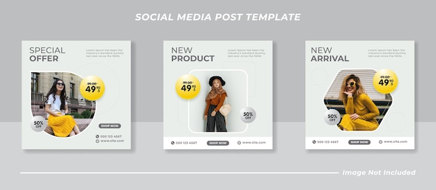 Social media instagram postsjabloonverzameling template