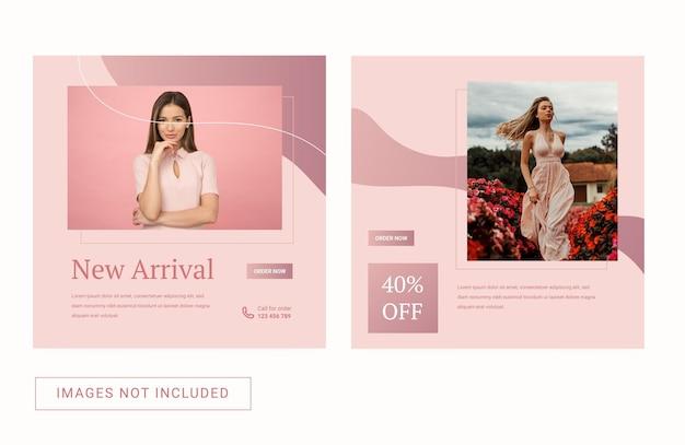 Social media instagram-sjabloon voor het verkoopmerk van modevrouwen