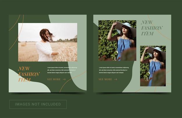 Social media instagram sjabloon voor mode verkoop nieuwe aankomst esthetische kleur post banner flyer