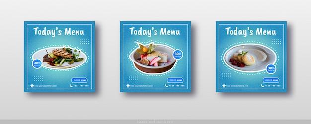 Social media instagram voedselverkoop en sjabloon voor spandoek