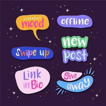 Social media jargon bubbels collectie