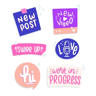 Social media jargon bubbels pack