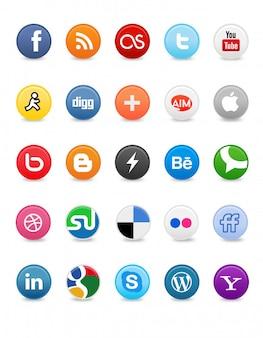 Social media-knoppen