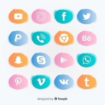 Social media logo collectie