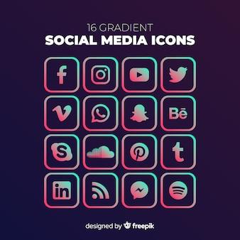Social media logo collectie