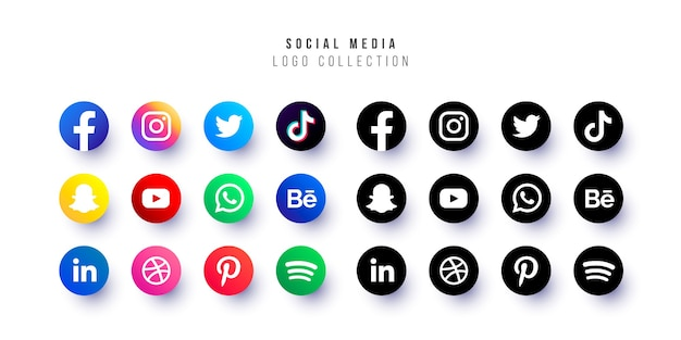 Social media logo-collectie