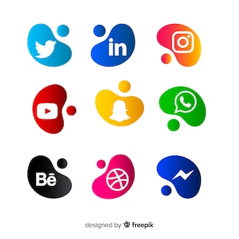 Social media logo collectio