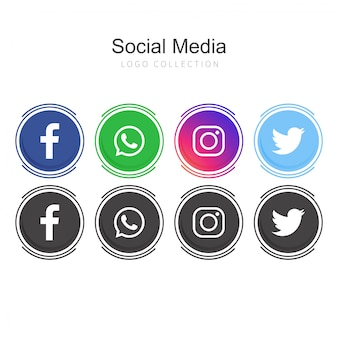 Social media-logo's
