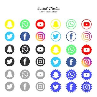 Social media-logotype verzameling