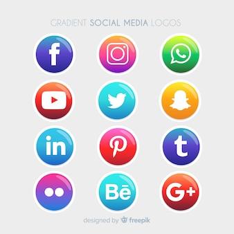 Social media logotype verzameling