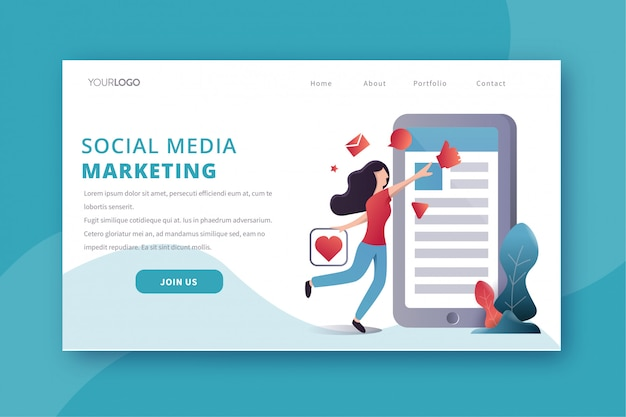 Social media marketing bestemmingspagina