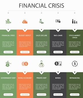 Social media marketing infographic 10 stappen cirkel ontwerp. gebruikersbetrokkenheid, volgers, call-to-action, eenvoudige pictogrammen voor leadconversie