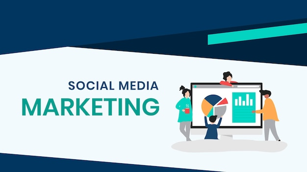 Social media marketing presentatie dia bewerkbare sjabloon