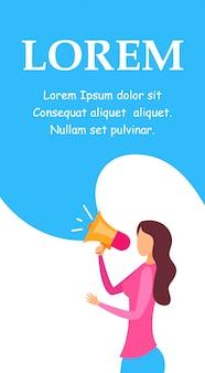 Social media marketing service brochure sjabloon