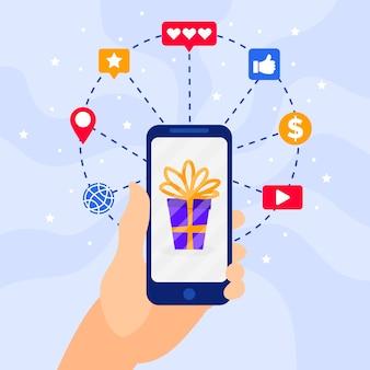 Social media marketing thema