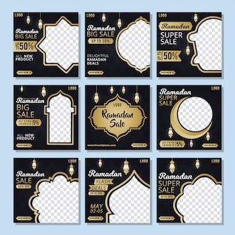 Social media na template ramadhan korting